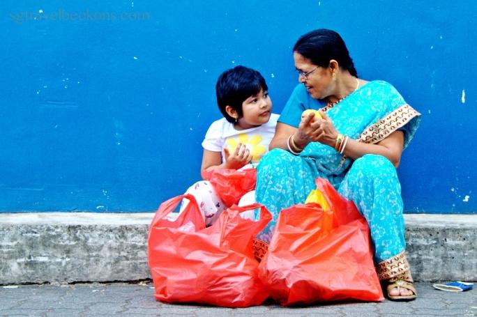 Grandma & daughter at Little India