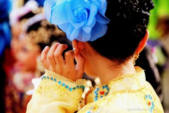 A young Malay dancer