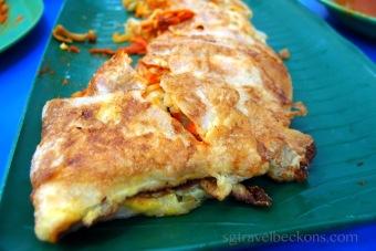Murtabak - a localised Arab style 'pancake'