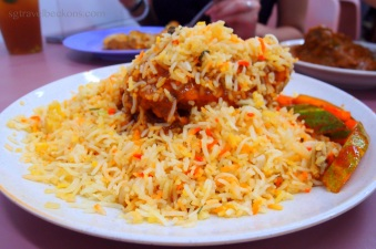Nasi Briyani - Mixed rice with spices, meat and (sometimes) vegetables