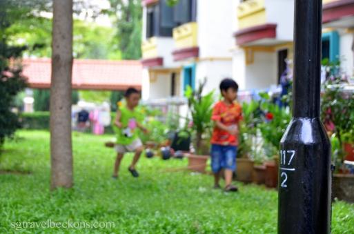 Housing estate (where children play)